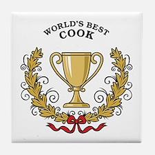 World's Best Cook Tile Coaster