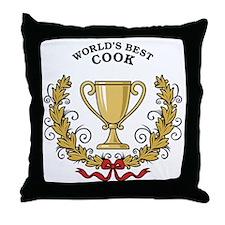 World's Best Cook Throw Pillow