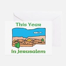This Year In Jerusalem Greeting Card