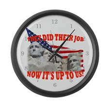 Our Turn Now! Large Wall Clock