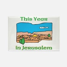 This Year In Jerusalem Rectangle Magnet