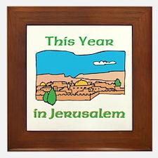 This Year In Jerusalem Framed Tile