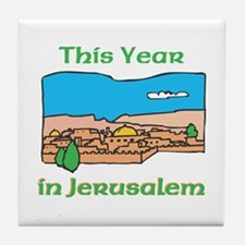 This Year In Jerusalem Tile Coaster