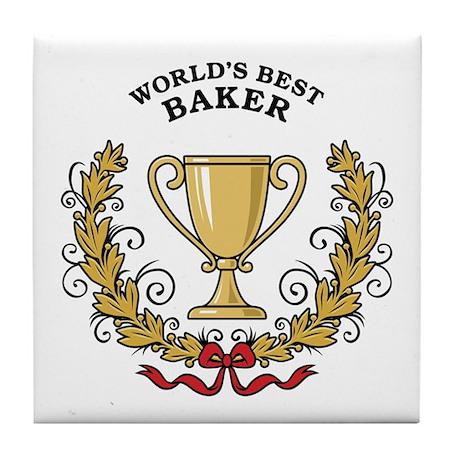 World's Best Baker Tile Coaster