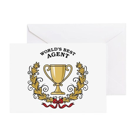 World's Best Agent Greeting Card