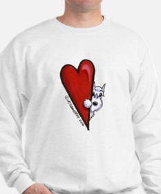 White Schnauzer Lover Sweatshirt