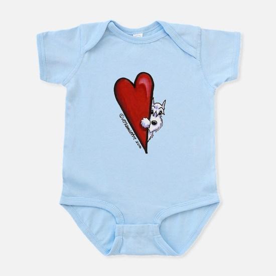White Schnauzer Lover Infant Bodysuit