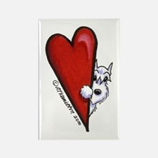 White Schnauzer Lover Rectangle Magnet (10 pack)