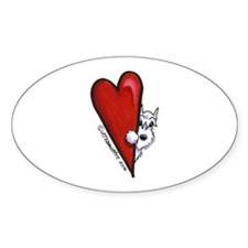 White Schnauzer Lover Decal