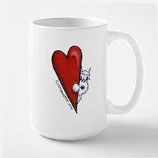 White Schnauzer Lover Large Mug