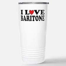I Love Baritone Travel Mug