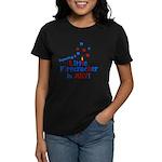 Little Firecracker in July. Women's Dark T-Shirt