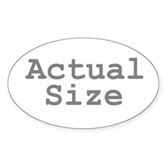 Actual Size Sticker (Oval 50 pk)