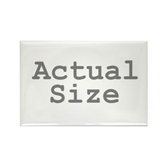 Actual Size Rectangle Magnet (10 pack)