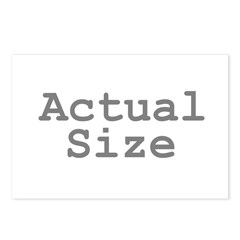 Actual Size Postcards (Package of 8)