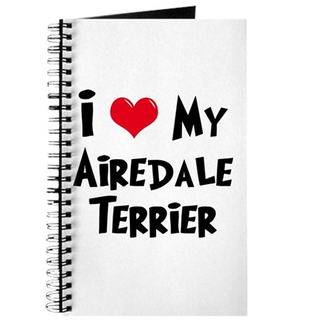 I Love My Airedale Journal