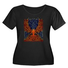 Celtic Phoenix Plus Size Scoop Neck Dark T-Shirt