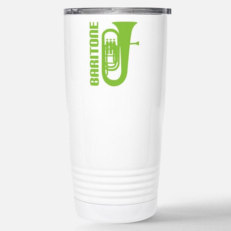 Music Silhouette Baritone Travel Mug