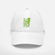 Music Silhouette Baritone Baseball Baseball Cap