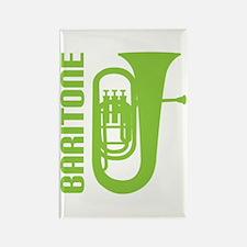 Music Silhouette Baritone Rectangle Magnet