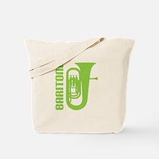 Music Silhouette Baritone Tote Bag