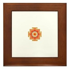 Funny Gold mandala Framed Tile