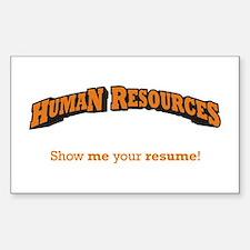 HR / Resume Decal