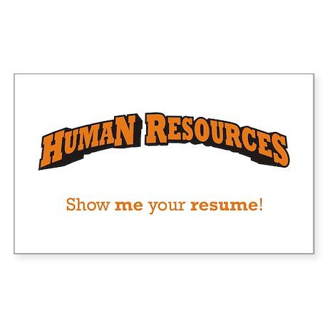 HR / Resume Sticker (Rectangle)