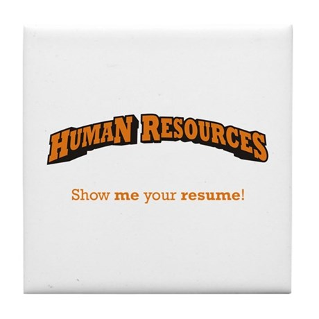 HR / Resume Tile Coaster