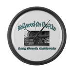 Hollywood On The Pike Large Wall Clock