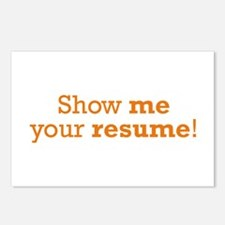 Show me / Resume Postcards (Package of 8)