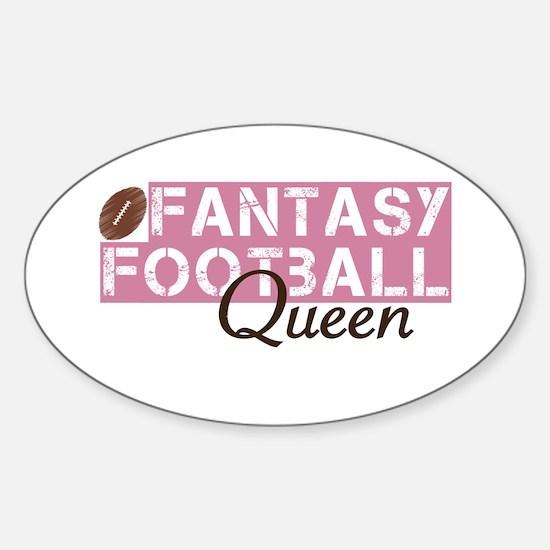 Fantasy Football Queen Sticker (Oval)