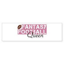 Fantasy Football Queen Bumper Sticker