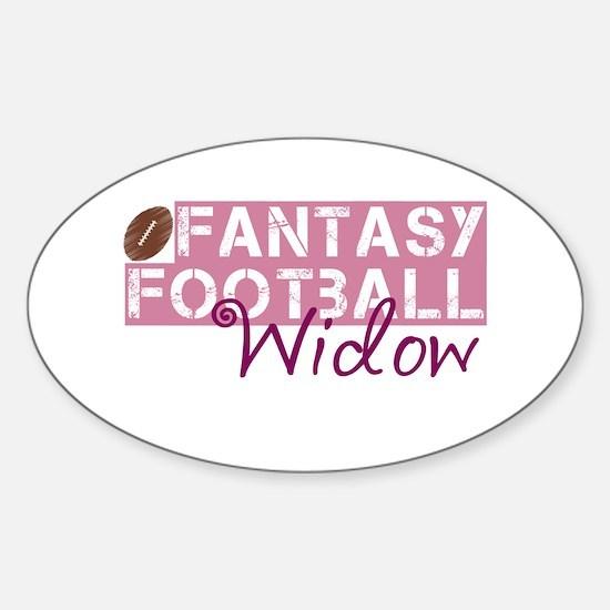 Fantasy Football Widow Sticker (Oval)