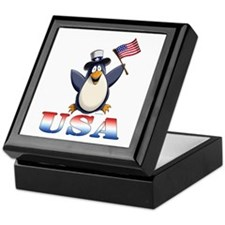 American Penguin Keepsake Box