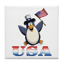 American Penguin Tile Coaster