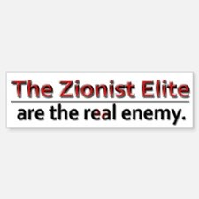 Zionist Elite Enemy - Bumper Bumper Sticker