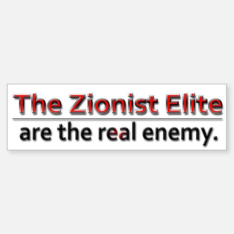 Zionist Elite Enemy - Bumper Bumper Sticker