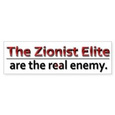 Zionist Elite Enemy - Car Sticker