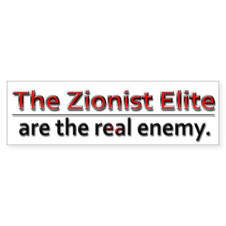 Zionist Elite Enemy - Sticker