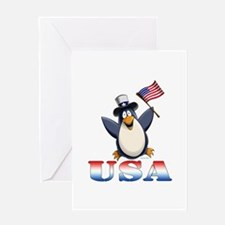 American Penguin Greeting Card