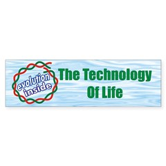 """Technology of Life"" Bumper Sticker"
