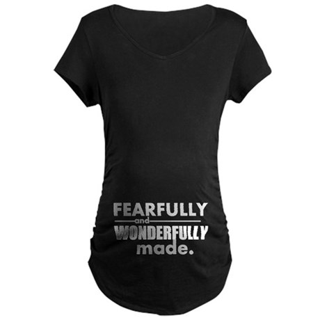 Psalm 139 Maternity Dark T-Shirt