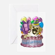 Puggleful Birthday Greeting Card