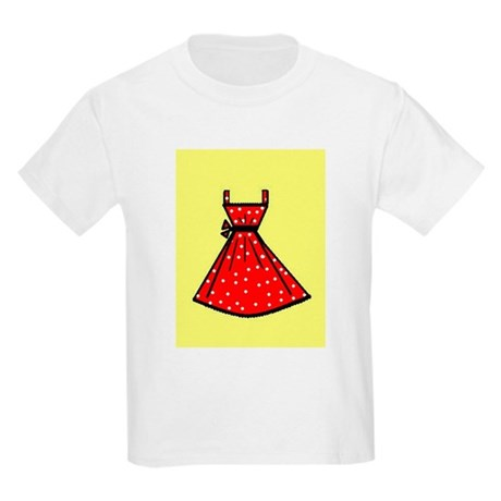 Red polka dot dress with yellow - 15.5KB