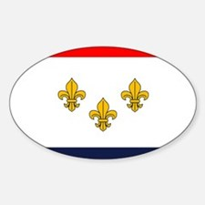 Flag of New Orleans Oval Decal