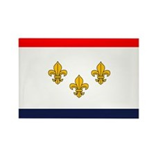 Flag of New Orleans Rectangle Magnet