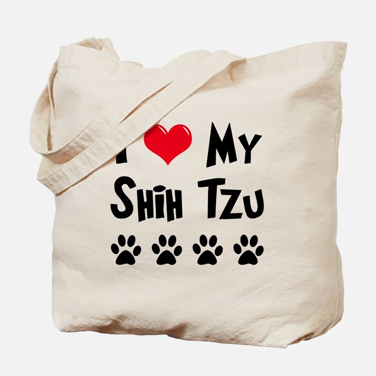 I Love My Shih Tzu Tote Bag
