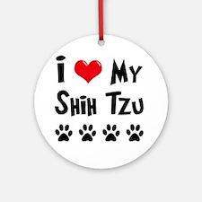 I Love My Shih Tzu Ornament (Round)