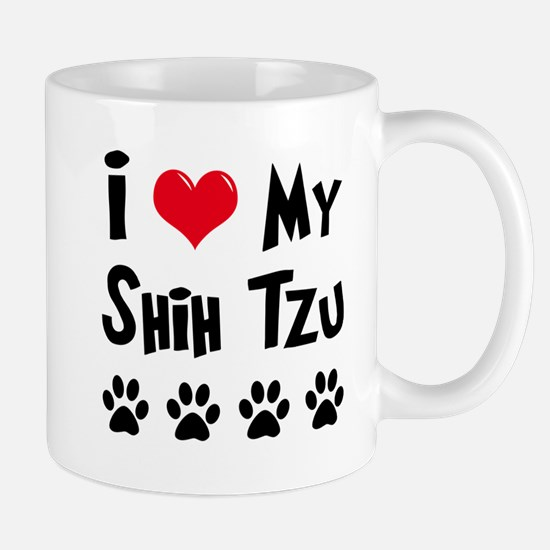 I Love My Shih Tzu Mug